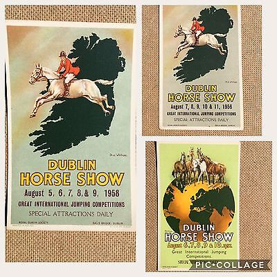 1956/7/8 Dublin Horse Show Advertising Postcard - Olive Whitmore Artist (unused)