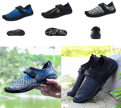 Mens Water Shoes Anti-skid Slip On Barefoot Swim Beach Yoga Aqua Aerobics Sports