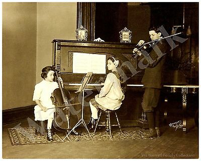 Connie, Martha & Clyde Boswell 8x10 Photo 1915 Camp St New Orleans Pose #F2