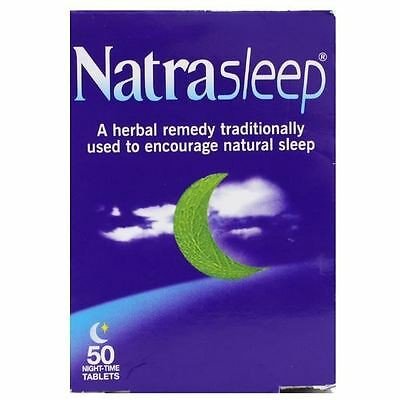 Natrasleep 50 Tablets | Herbal Remedy Encourages Sleep 1 2 3 6 12 Packs