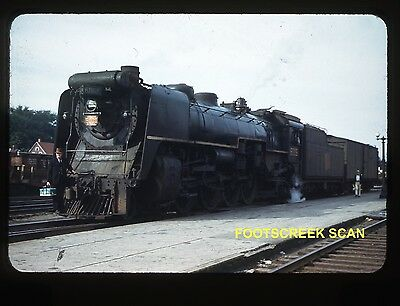 Canadian National Cn Steam Engine #6009. C: 1950, Red Border Slide