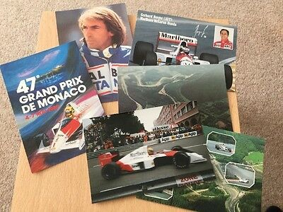 Selection Of Formula 1 Postcards And Photo F1 Motor Sport