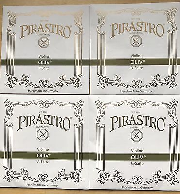 Pirastro Oliv Label Violin Strings.