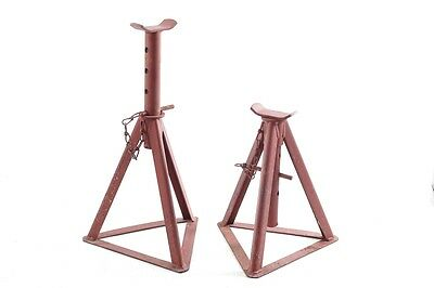 2x beautiful old Billy-goat Stand vehicle universal Tripod Jack Vintage car
