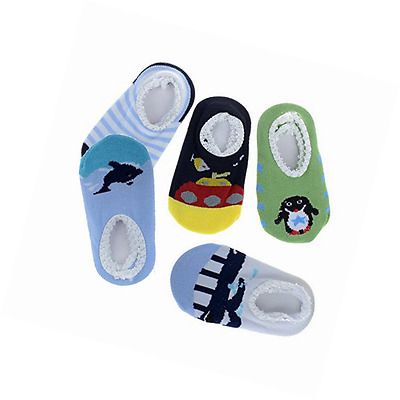 Baby Toddler Assorted 5 Pairs Animal Stripes Anti Slip Socks 0-18 months Boys