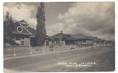 RP Gallup New Mexico Street Scene & Homes 1915 Postcard