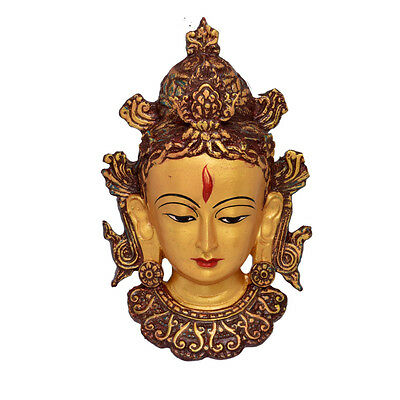 Resin Lord Tara Wall Mask Statue Decorative Wall Mask, Wall Statue