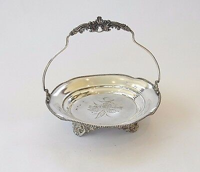 Antique Silver Plated Afternoon Tea Cake Stand Sweet Dish by FB Rogers Silver Co