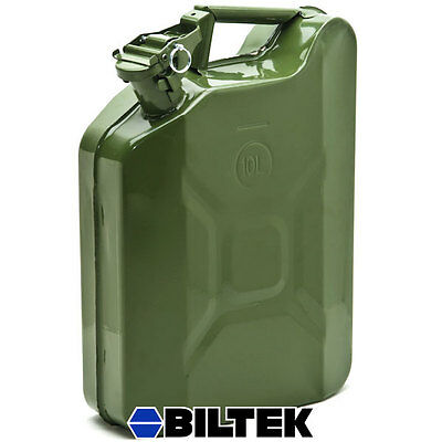 Green NATO Style 2.5 Gallon Jerry Can 10L Army Military Fuel Gas Tank Metal