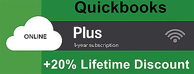 Quickbooks Online Plus 1 year subscription for new account + Lifetime Discount