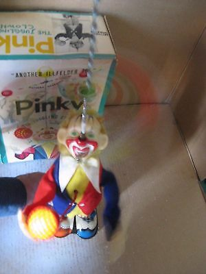 1950s BATTERY OPERATED CLOWN PINKY THE JUGGLING TIN LITHO CIRCUS TOYS ALPS JAPAN
