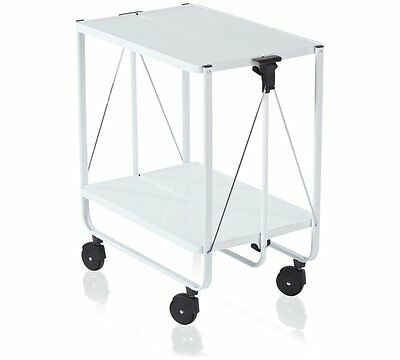 Leifheit Side Car Folding Trolley Featured In The Museum Of Modern Art In White