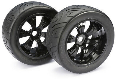 Absima Truggy 1:8th Tyre And Rim LP Street (2) Black Part Number 2530006 On Road
