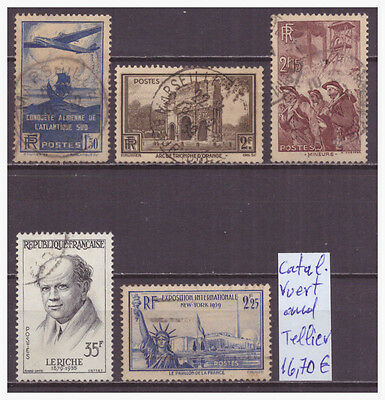 Frankreich France Collection Lot Of 5 Old Used Stamps
