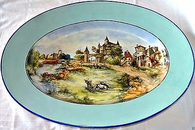 Grand Plat En Faience De Bordeaux Vieillard  56 Cm