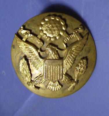 WW2 US Military Eagle Badge Pin Brass (1-1/2 inch diameter)