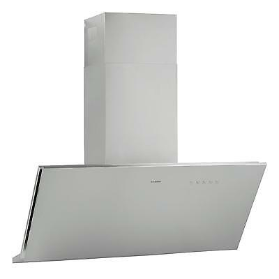 Silver Extractor Cooker Hood Kitchen Chimney 610 M³/h Fan Stainless Steel New