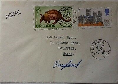 1969 Cover With Grenada / Great Britain Stamps Combination To England