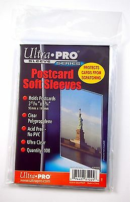"Ultra-Pro Soft Sleeves, Postcard 3 11/16"" x 5 3/4"" , 100 pack"