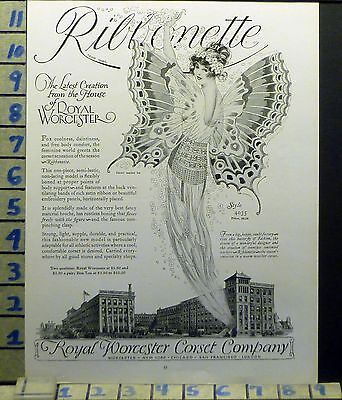 1924 Fashion Women Corset Royal Worcester Butterfly Fairy Vintage Ad Bj67