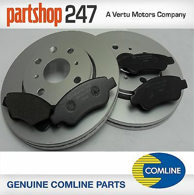 Genuine Comline PEUGEOT 107, 2005>  FRONT BRAKE PADS AND COATED DISCS VENTED