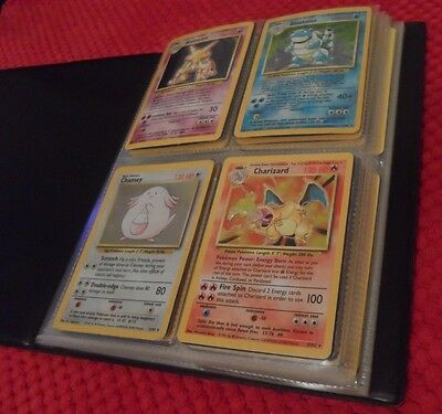 Pokemon Base Set 102/102 Complete Original Base Set Folder 1999 Charizard NM