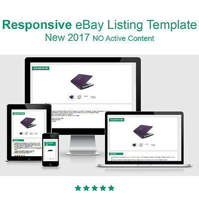 Responsive eBay Listing Template - New NO Active Content