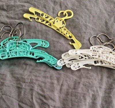 vintage old children's babies coat hangers