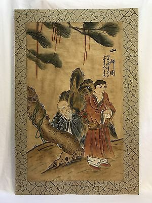 Antique Vintage Chinese Watercolor Painting