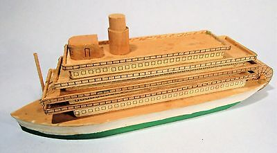 Mississippi Riverboat Vintage Folk Art Model Ship Wooden Boat Nautical Americana