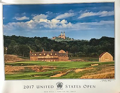 2017 u.s. open golf Poster Erin Hills holy hill photo image signed new pga
