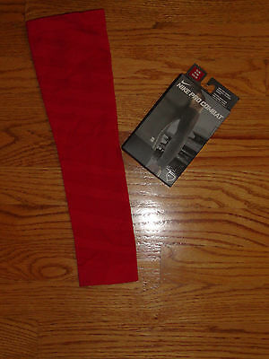 Mens S/M Nike Pro Combat Compression Arm Elbow Sleeve Red Baseball Softball