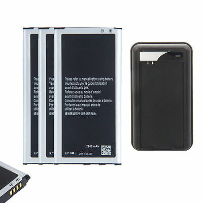 3 x New EB-BG900BBE 2800mAh Battery for Samsung Galaxy S5 i9600 SM-900 + Charger