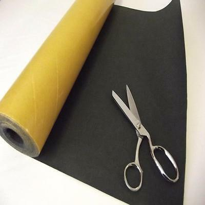 BS EN 71 CHARCOAL Sticky Self Adhesive Felt Baize Fabric Mini 5m Rolls UK MADE