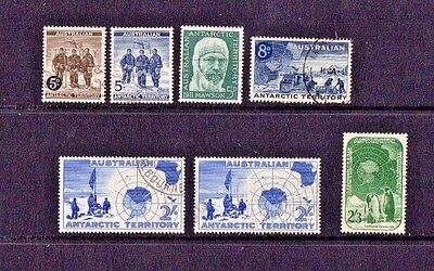 Australian Antarctic Territory - 1959/61? - Seven Used Stamps A1 Condition
