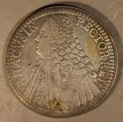 1769 Ragusa Italy State Tallero Silver Circulated Coin   ** FREE U.S SHIPPING **