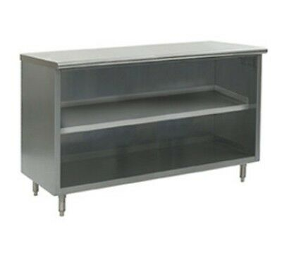 """24"""" X 48"""" Stainless Steel Storage Dish Cabinet - Open Front"""