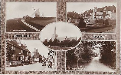 Early Postcard. Views of Rotherfield. Sussex. (1914). R/P