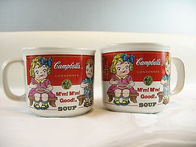 Two Campbell's soup mugs 1993