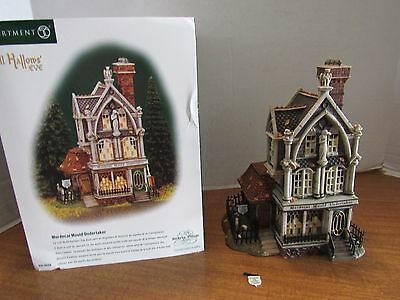 Dept. 56 Mordecai Mould Undertaker Dickens Village All Hallows Eve #56.58509