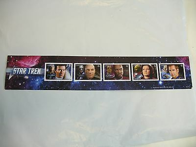 Canada Post stamps advertising strip of paper Star Trek 5 captains