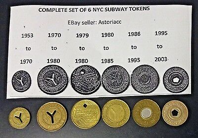 Lot On New York City Subway Tokens!~