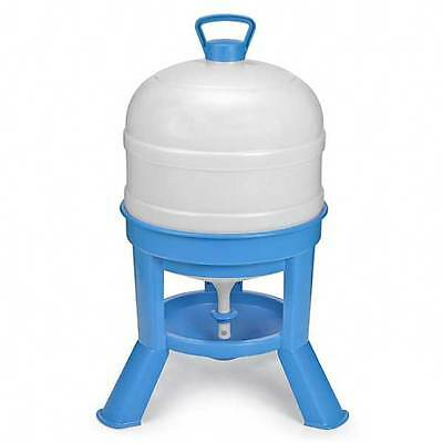 New 30l Blue & White Chicken Tripod Drinker for Poultry
