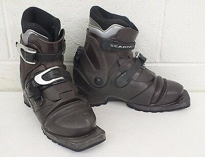 Scarpa T3 3-Pin 75mm Nordic Norm Telemark Ski Boots US Women's 7.5 GREAT LOOK