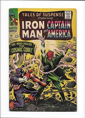 """Tales Of Suspense #80 [1966 Vg+] """"he Who Holds The Cosmic Cube!"""""""