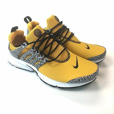 fc6effe54145 NWT Nike Air Presto QS Safari Men s University Gold Sneakers 10 12 DS  AUTHENTIC