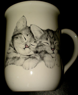 Otagiri Japan SNUGGLING CATS KITTENS Ceramic COFFEE MUG TEA CUP Jonah's Workshop