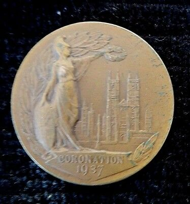 Proposed Edward VIII coronation medal in Bronze, 1937