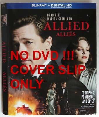 No Discs !! Allied Blu-Ray Cover Slip Only - No Discs !!   (Inv13603)