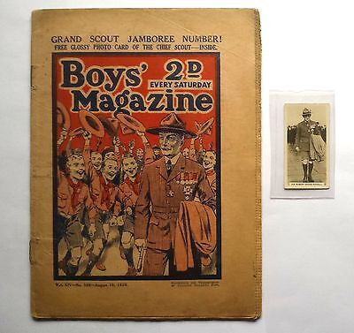 Boys Magazine Famous Cricketers 1929 No 7 R Baden-Powell Scouts Comic Free Gift